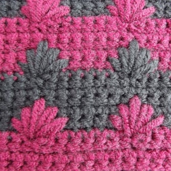 Crochet Stitches Ws : Puffy Spike Stitch - Wrong Side