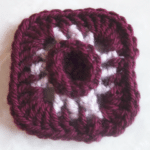3-Inch Raised Center Afghan Square