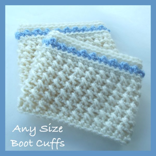 Crochet Boot Cuffs Any Size Crochet Boot Cuff Size Chart