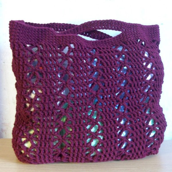 Crochet Bags And Totes : Beach or Yarn Tote ~ FREE Crochet Pattern