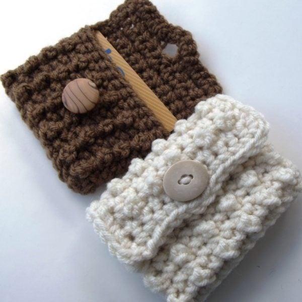 Free Crochet Pattern Gift Card : Bead Stitch Gift Card Case ~ FREE Crochet Pattern