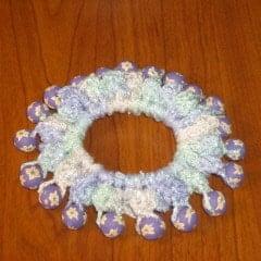 Crochet Beaded Hair Scrunchie