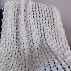 Beautiful Broomstick Lace Afghan Square | AllFreeCrochet.com