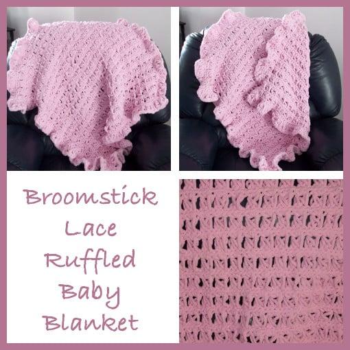 Crochet Lace Baby Blanket Free Pattern : Broomstick Lace Ruffled Baby Blanket ~ FREE Crochet Pattern
