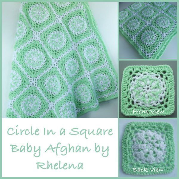 Free Crochet Pattern For Circle Baby Blanket : Circle In a Square Baby Afghan ~ FREE Crochet Pattern