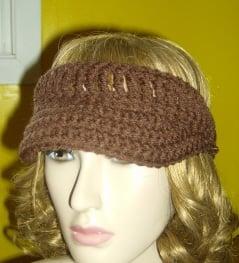 Free Crochet Pattern Visor Hat : Crochet Visor ~ FREE Crochet Pattern