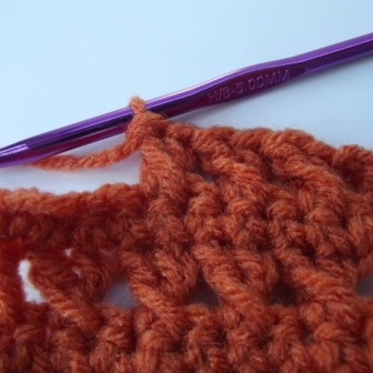 Backtrack and Crochet Into Skipped Stitch