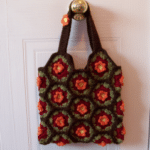 Hexagon Fall Flower Tote
