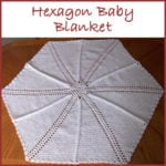 Hexagon Shells and Ladders Baby Blanket