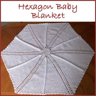Hexagon Shells and Ladders Baby Blanket ~ FREE Crochet Pattern