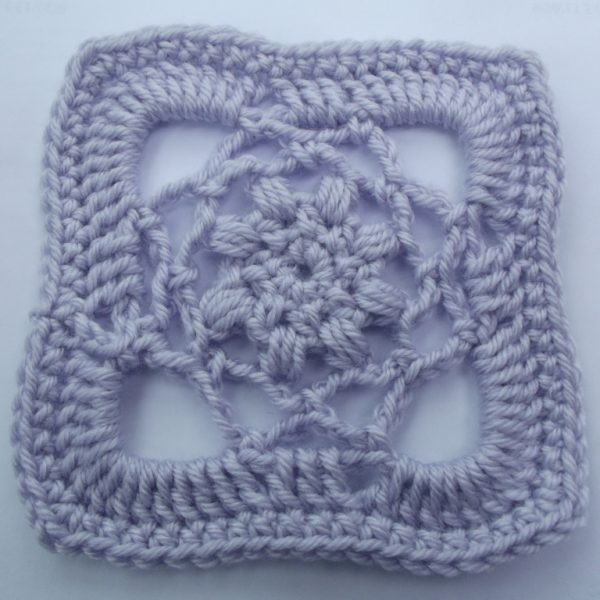 Crochet Pattern For Afghan Squares : Lacy Afghan Square ~ FREE Crochet Pattern
