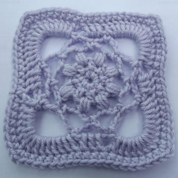 "5"" Crochet Lace Square Pattern"