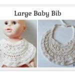 Large Baby Bib ~ FREE Crochet Pattern