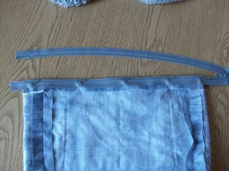 Pinning First Side of Zipper