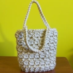 Free Crochet Patterns For Small Bags : Mini Gift Bag ~ FREE Crochet Pattern