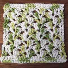 Off Set Shell Dishcloth - FREE Pattern