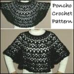 Crochet Bernat Satin Lacy Poncho