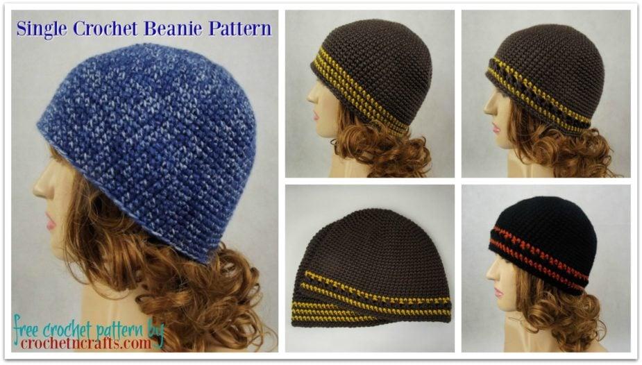 Single Crochet Beanie Pattern By Crochetncrafts