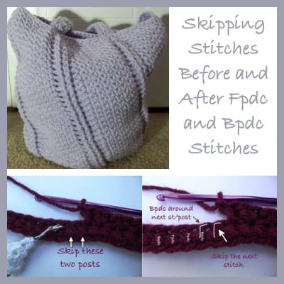 Skipping Stitches Before and After Fpdc and Bpdc Stitches