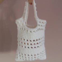 Free Crochet Purse Patterns For Beginners : Small Beginner Crochet Bag ~ FREE Crochet Pattern