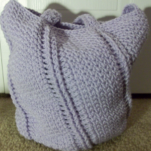 Spiral Textured Seed Stitch Bag