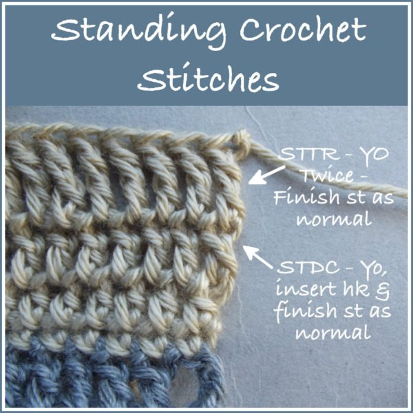 Standing Crochet Stitches