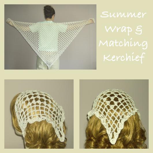 Crochet Summer Wrap and Matching Kerchief