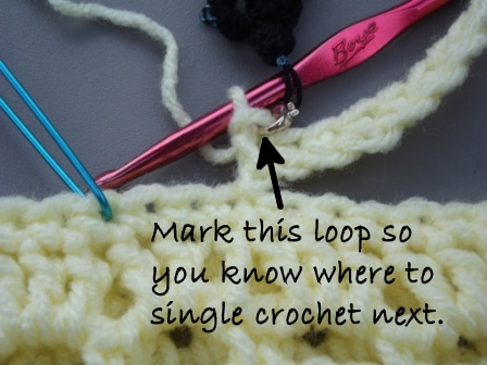 Mark the Loop For the Next Single Crochet
