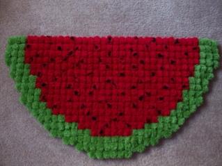 Sturdy Watermelon Pom Pom Rug
