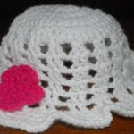 White Floppy Sun Hat by Crochet Jewel