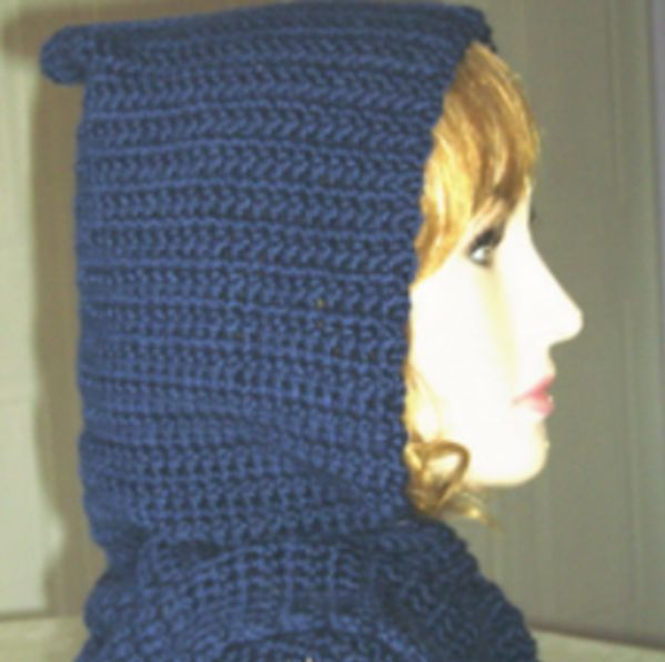 Crochet Bernat Satin Hooded Scarf Free Crochet Pattern
