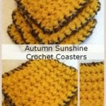 Autumn Coasters – Guest Post by Sara Duggan – FREE Crochet Pattern