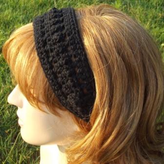 Bead And Lace Headband Free Crochet Pattern