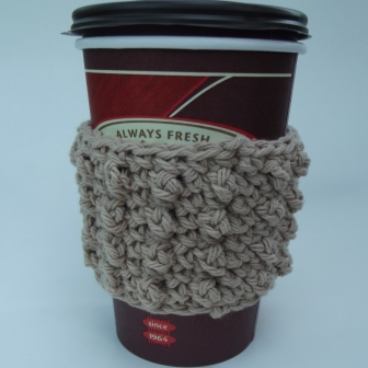 Bead Stitch Crochet Coffee Sleeve Pattern