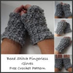 Bead Stitch Fingerless Gloves