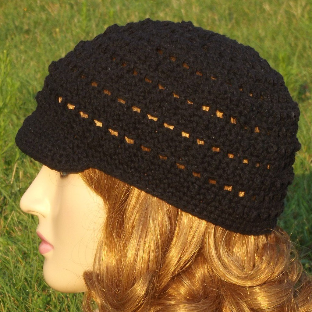 Free Crochet Pattern - Bead and Lace Hat