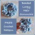 Beaded Loopy Hair Scrunchie
