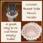 Cardboard Crochet Pencil Holder – FREE Pattern