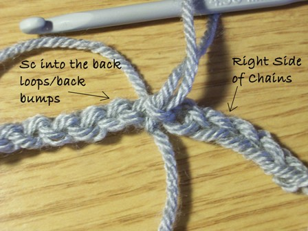 Work Into Back Loops of Chains