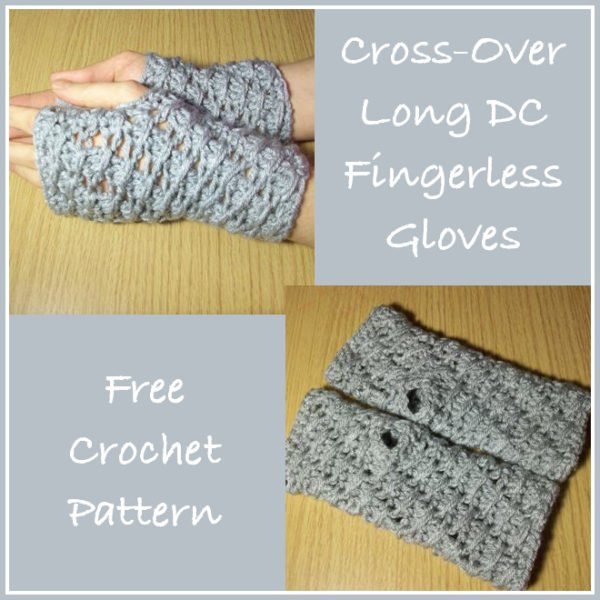 Cross-Over Long DC Fingerless Gloves Pattern