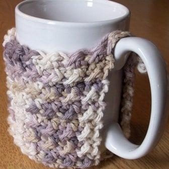 Crunch Stitch Crochet Mug Cozy Pattern