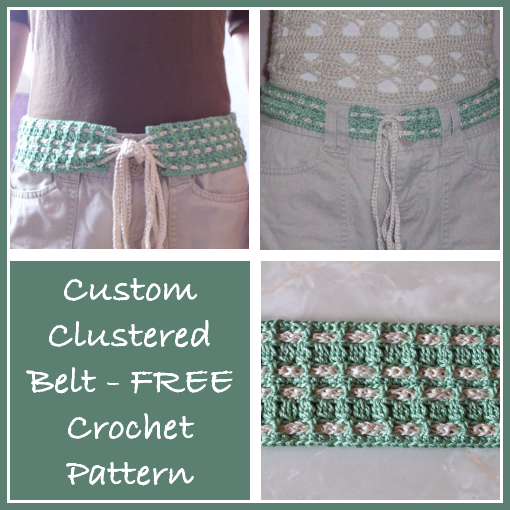 Custom Clustered Belt Free Crochet Pattern