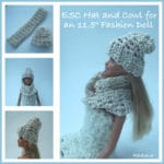 ESC Hat and Cowl for the 11.5″ Fashion Doll