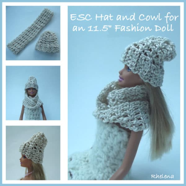 Esc Hat And Cowl For The 115 Fashion Doll Free Crochet Pattern
