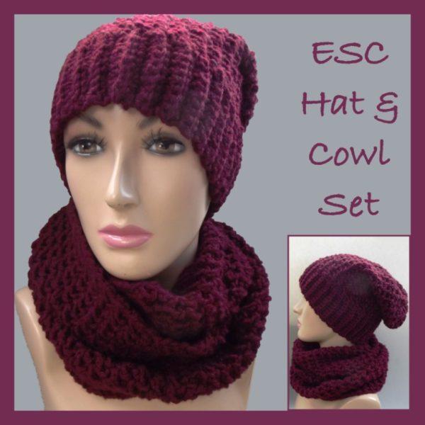 Free Crochet Fox Cowl Hat Pattern : ESC Hat and Cowl Set ~ FREE Crochet Pattern