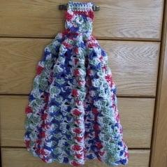Fan Kitchen Towel ~ FREE Crochet Pattern