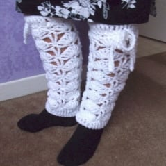 Crochet Fan Leg Warmers