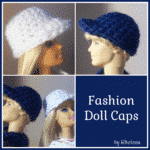 Fashion Doll Caps ~ Free Crochet Pattern