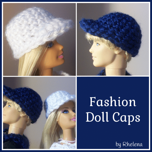 11a1244f14a Fashion Doll Caps ~ FREE Crochet Pattern