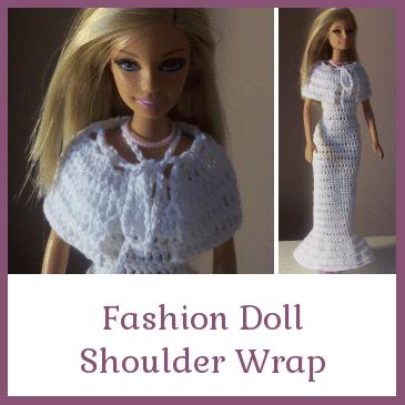 Fashion Doll Shoulder Wrap